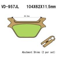 Тормозные колодки VESRAH VD-957JL