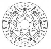 Тормозной диск передний TOURMAX DRF-301