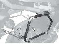 Крепления боковых кофров KAPPA Monokey KL1111 для Honda NC700X/700S
