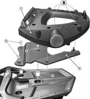 Крепления центрального кофра KAPPA Monolock K228M для Yamaha FJR 1300 (06-12)