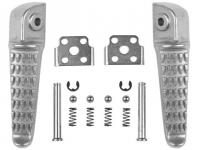 Подножки задние MOTOKIT для Kawasaki ZX-6R, ZX-9R, ZX-10R, GTR1400, ZZR1400, ZZR1200, Z750< Z1000 серебристые