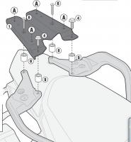 Крепления центрального кофра KAPPA Monokey KR7703 для KTM 1190 2013