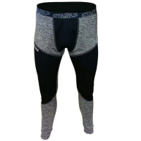 Термобелье с виндстоппером брюки мужские STARKS WARM Extreme черно-серого цвета