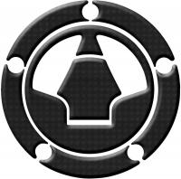 Наклейка на крышку топливного бака KEITI RKW-518CF карбоновая