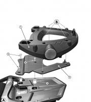 Крепление верхнего кофра GIVI MONOKEY E228 для Yamaha FJR 1300 (06-09)